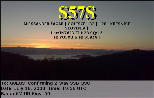 A few Sample QSL Cards